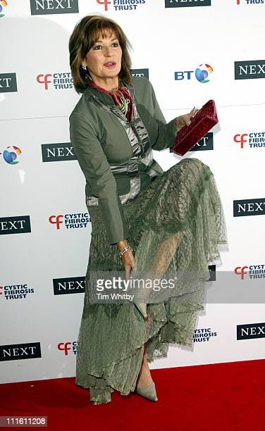 Stephanie Beacham during Cystic Fibrosis Trust Breathing Life Awards Arrivals and Press Room at Royal Lancaster Hotel in London Great Britain