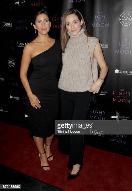 Stephanie Beatriz and Emmy Rossum attend 'The Light Of The Moon' Los Angeles premiere at Laemmle Monica Film Center on November 16 2017 in Santa...