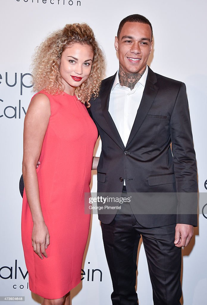 Stephanie Bertram Rose and Gregory van der Wiel attends IFP, Calvin Klein Collection & euphoria Calvin Klein celebrate Women in Film at the 68th Cannes Film Festival on May 18, 2015 in Cannes, France.