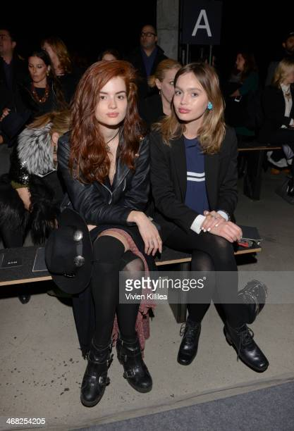 Stephanie Cam and Staz Lindes attend Edun MercedesBenz Fashion Week Fall 2014 at Skylight Modern on February 9 2014 in New York City