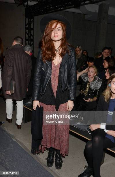 Stephanie Cam attends Edun MercedesBenz Fashion Week Fall 2014 at Skylight Modern on February 9 2014 in New York City