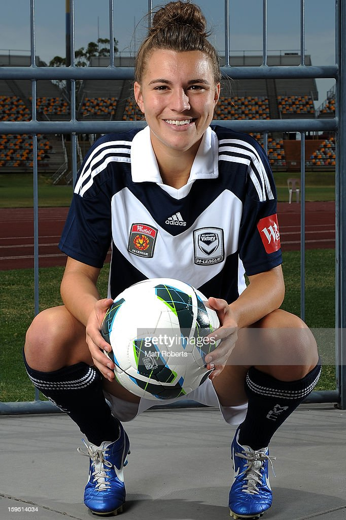 Stephanie Catley of the Victory poses during the W-League FFA finals series launch at Queensland Sport and Athletics Centre on January 15, 2013 in Brisbane, Australia.
