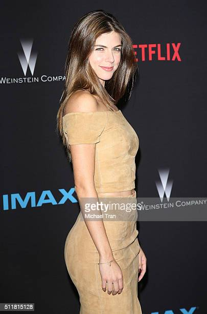 Stephanie Cayo arrives at the premiere of Netflix's 'Crouching Tiger Hidden Dragon Sword Of Destiny' held at AMC Universal City Walk on February 22...