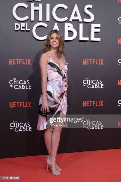 Stephanie Cayo attends the 'Las Chicas del Cable' Netflix Tv Series premiere at Callao Cinema on April 27 2017 in Madrid Spain
