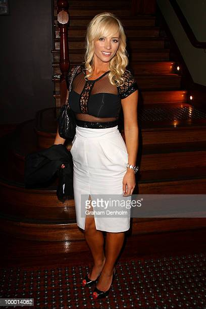 Stephanie Conley arrives for the Chandon Supper Club after party at The ArtHouse on May 20 2010 in Sydney Australia