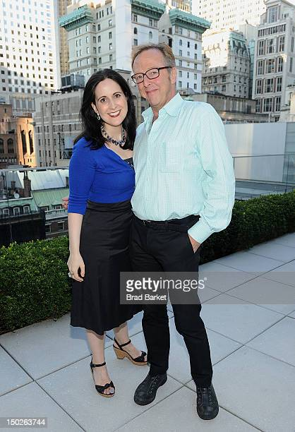 Stephanie D'Abruzzo and Edward Hibbert attend the 6th Annual Summer Shorts Cast Company Reception at Museum Tower on August 13 2012 in New York City