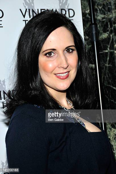 Stephanie D'Abruzzo attends the 2012 Vineyard Theatre Gala at The Hudson Theatre on March 12 2012 in New York City