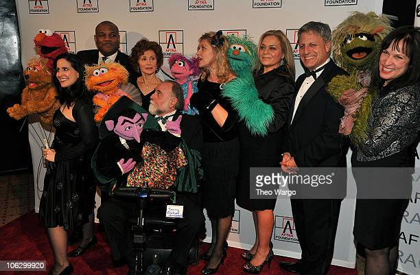 Stephanie D'Abruzzo Kevin Clash Fran Brill Jerry Nelson Leslie CarraraRudolph Carmen Osbahr Gary Knell and Pam Arciero of Sesame Street attend the...