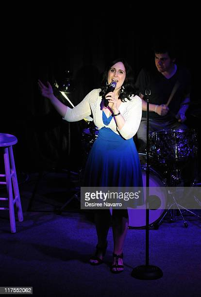 Stephanie D'Abruzzo performs at Broadway Sings Tori A Benefit for RAINN on June 27 2011 in New York United States