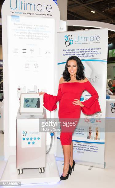 Stephanie Davis attends Professional Beauty Exhibition at ExCel on February 27 2017 in London England