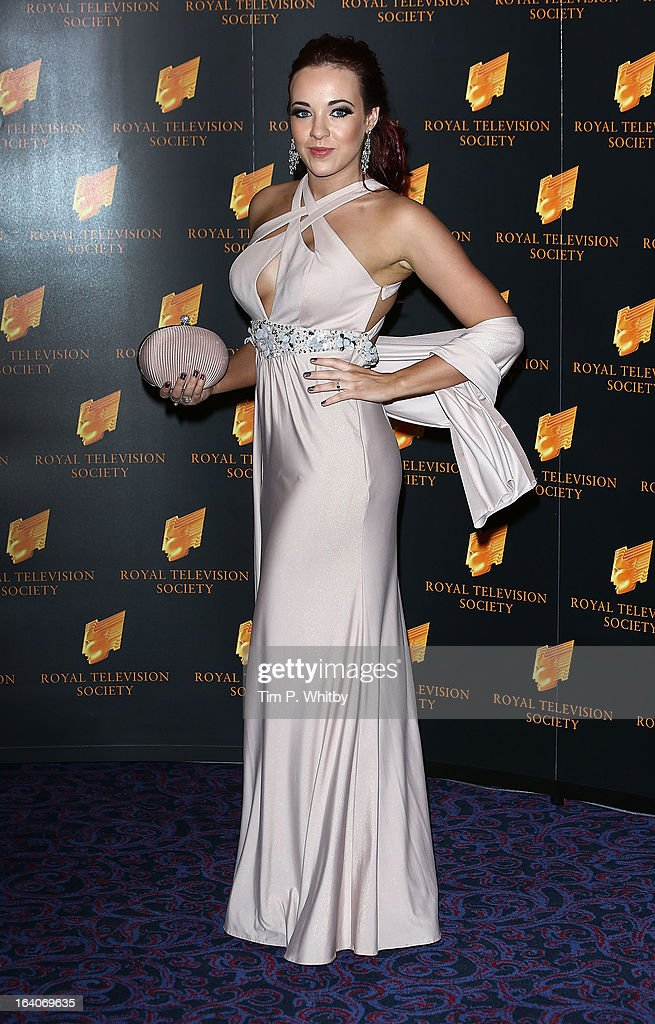 Stephanie Davis attends the RTS Programme Awards at Grosvenor House, on March 19, 2013 in London, England.