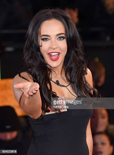 Stephanie Davis enters the Celebrity Big Brother House at Elstree Studios on January 5 2016 in Borehamwood England