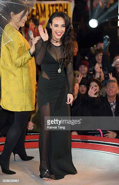Stephanie Davis is evicted from the Big Brother house at Elstree Studios on February 5 2016 in Borehamwood England