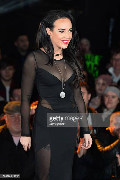 Stephanie Davis is evicted from the Celebrity Big Brother House at Elstree Studios on February 5 2016 in Borehamwood England