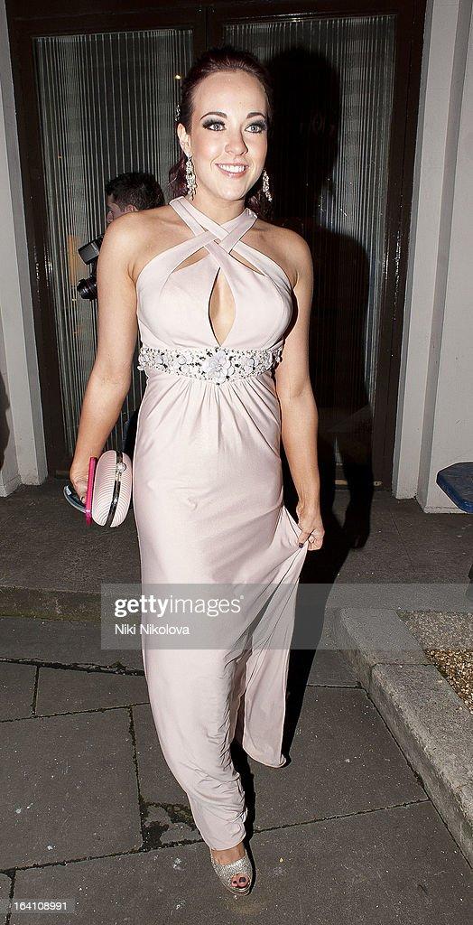 Stephanie Davis sighting on March 19, 2013 in London, England.