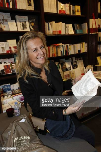 Stephanie de la Grandiere attends Bertrand Matteoli Signing Book 'Bien Dans Sa Peau' at Librairie Galignali on March 18 2017 in Paris France
