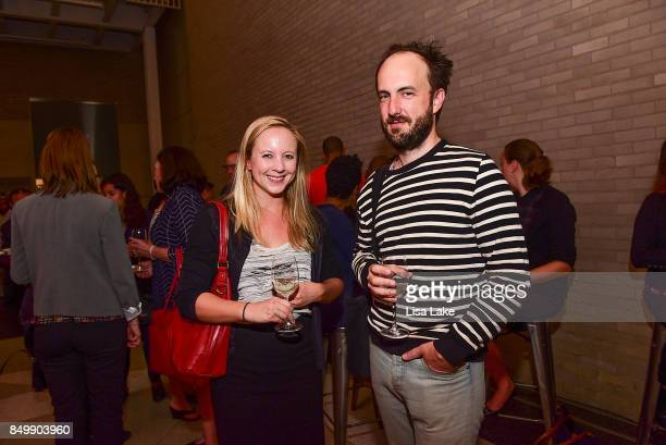 Stephanie Dick and Jacob Collins attend HBO 'Clinica De Migrantes' screening at The Franklin Institute Science Museum on September 19 2017 in...