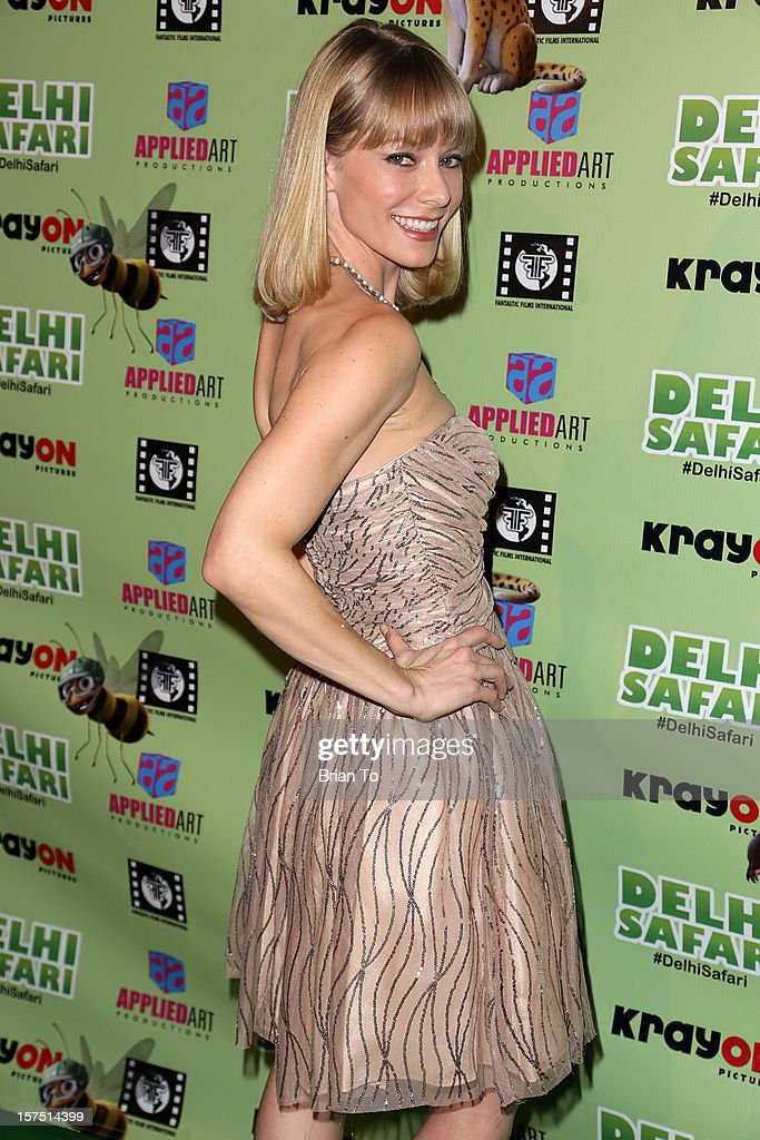 Stephanie Drapeau attends 'Delhi Safari' - Los Angeles premiere at Pacific Theatre at The Grove on December 3, 2012 in Los Angeles, California.