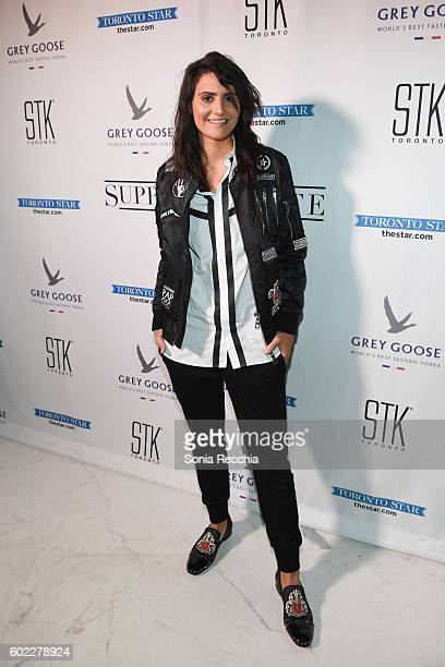 Stephanie Fabrizi attends the film premiere after party for Serendipity Point Films' 'Below Her Mouth' at Supper Suite by STK on September 10 2016 in...