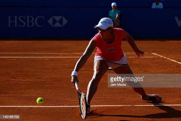 Stephanie Foretz of France during day three of the 2012 Mexican Open at Princess Hotel on February 29 2012 in Acapulco Mexico