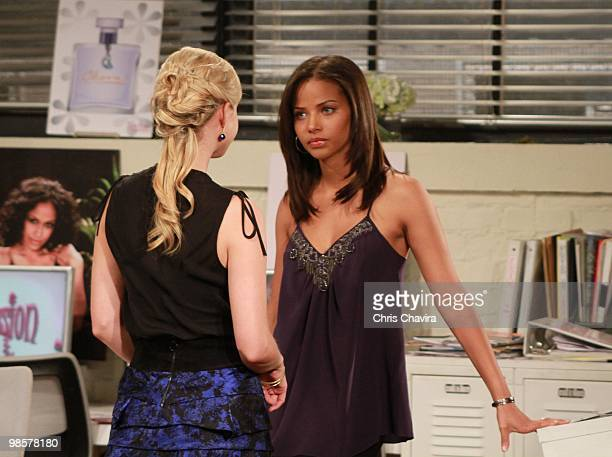 CHILDREN Stephanie Gatschet and Denise Vasi in a scene that airs the week of April 26 2010 on ABC Daytime's 'All My Children' 'All My Children' airs...