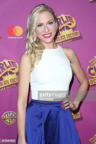 Stephanie Gibson attends 'Charlie And The Chocolate Factory' Broadway Opening Night at Pier 60 on April 23 2017 in New York City