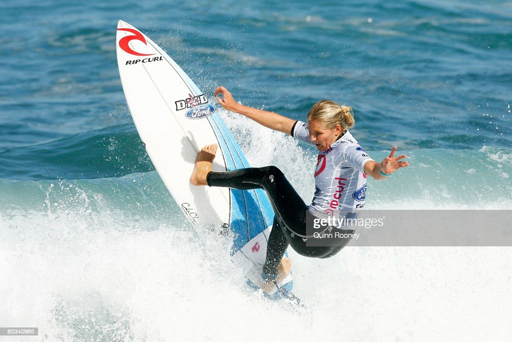 Stephanie Gilmore of Australia competes during round three of the Rip Curl Pro as part of the ASP World Tour held at Bells Beach March 22 2008 in...