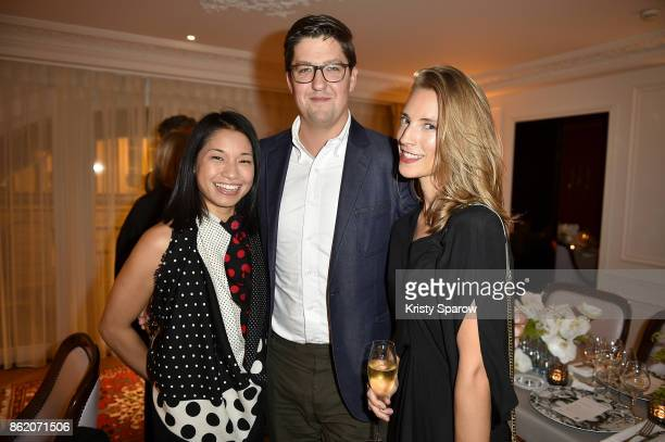 Stephanie Goto Spencer Bailey and Lili Lyons attend the Surface Magazine Fall Fashion Issue 2017 Presentation on October 16 2017 in Paris France