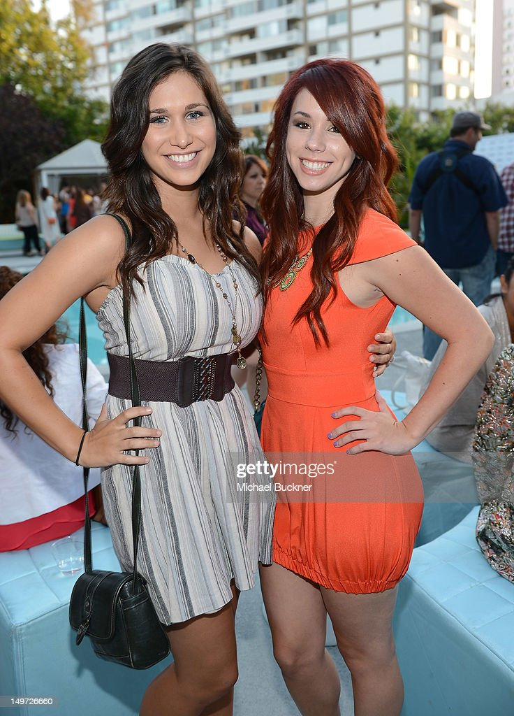 Stephanie Gray Anderson (L) and Jillian Rose Reed attends Seventeen Magazine's September Issue Celebration with Kendall Jenner and Kylie Jenner at the W Hotel Westwood on August 2, 2012 in Westwood, California.