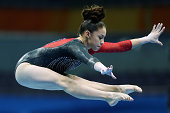 Stephanie Hernandez of Mexico competes in the Women's Artistic Gymnastics Qualification on day two of Nanjing 2014 Summer Youth Olympic Games at...