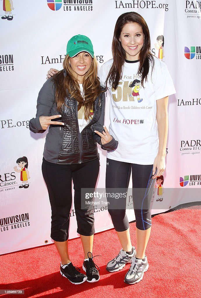 Stephanie Himonidis (L) and Annabelle Sedano attend the PADRES Contra El Cancer's 'Stand For HOPE!' 5K Run/Walk held at Rose Bowl on June 24, 2012 in Pasadena, California.