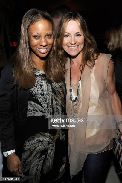 Stephanie Horton Lucinda Loya attend VOGUE and NORDSTROM Celebrate The Preview of RUBEN TOLEDO'S FASHION ALMANAC at Indochine on September 13 2010 in...