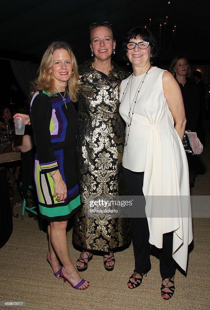 Stephanie Hrisch, Lisa Anastos and Jill Kraus attend the Artsy celebration for CalArts' John Baldessari Studios, with Audi, Valentino, and Vhernier at Soho Beach House on December 5, 2013 in Miami Beach, Florida.