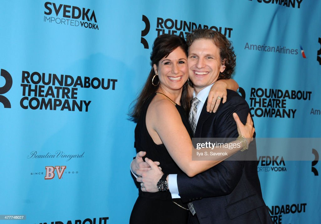 <a gi-track='captionPersonalityLinkClicked' href=/galleries/search?phrase=Stephanie+J.+Block&family=editorial&specificpeople=2337750 ng-click='$event.stopPropagation()'>Stephanie J. Block</a> and Sebastian Arcelus attend Roundabout Theatre Company's 2014 Spring Gala at Hammerstein Ballroom on March 10, 2014 in New York City.