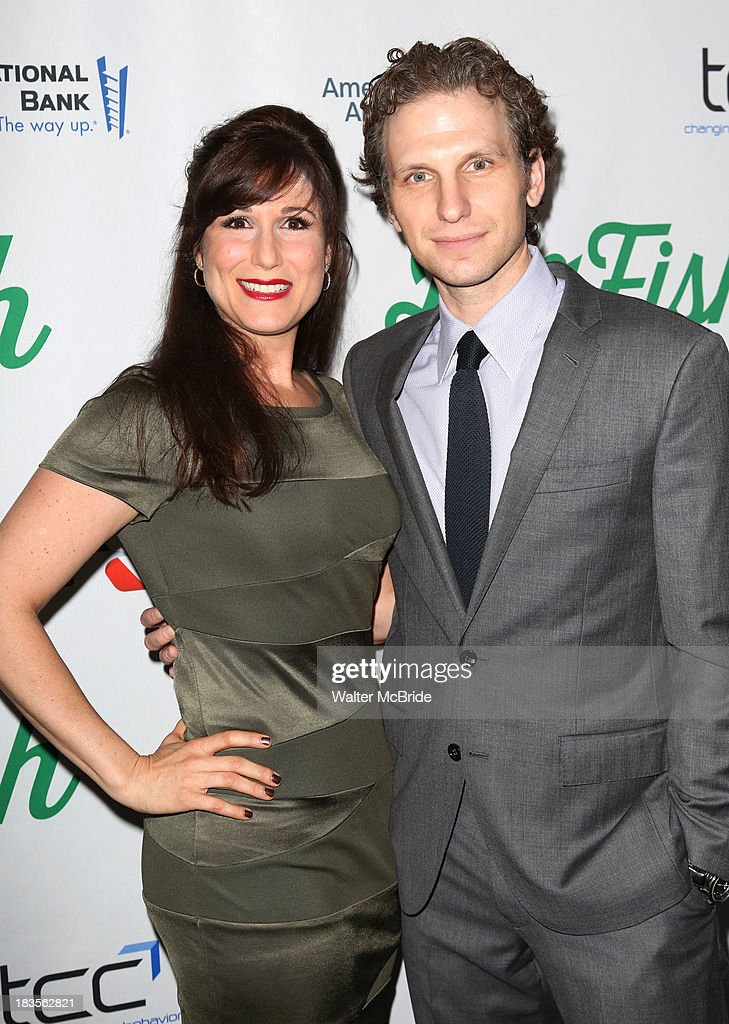 <a gi-track='captionPersonalityLinkClicked' href=/galleries/search?phrase=Stephanie+J.+Block&family=editorial&specificpeople=2337750 ng-click='$event.stopPropagation()'>Stephanie J. Block</a> and Sebastian Arcelus attend the 'Big Fish' Broadway Opening Night at Neil Simon Theatre on October 6, 2013 in New York City.