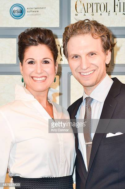 Stephanie J Block and Sebastian Arcelus attend the Capitol File's WHCD Welcome Reception at The British Embassy on May 2 2014 in Washington DC