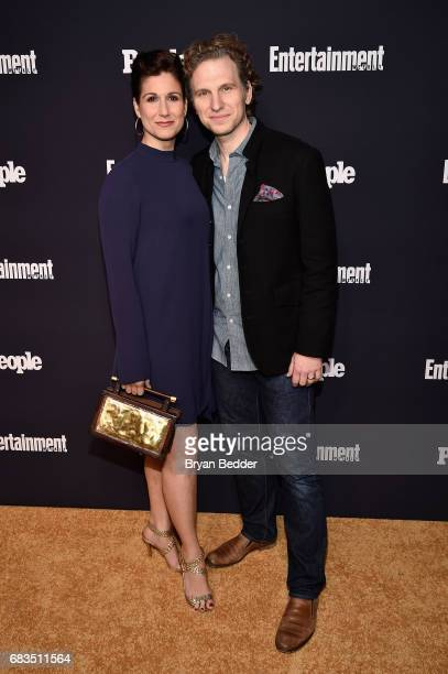 Stephanie J Block and Sebastian Arcelus attend the Entertainment Weekly and PEOPLE Upfronts party presented by Netflix and Terra Chips at Second...