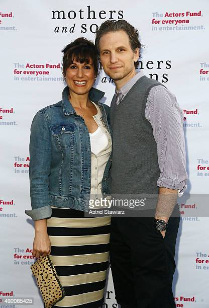 Stephanie J Block and Sebastian Arcelus attend the 'Mothers And Sons' special performance benefiting The Actors Fund at John Golden Theatre on May 18...