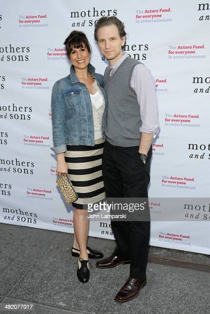 Stephanie J Block and Sebastian Arcelus attend the 'Mothers And Sons' Actors Fund Special Performance>> at John Golden Theatre on May 18 2014 in New...