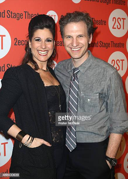 Stephanie J Block and Sebastian Arcelus attend the Second Stage 35th Anniversary Gala at Terminal 5 on May 5 2014 in New York City
