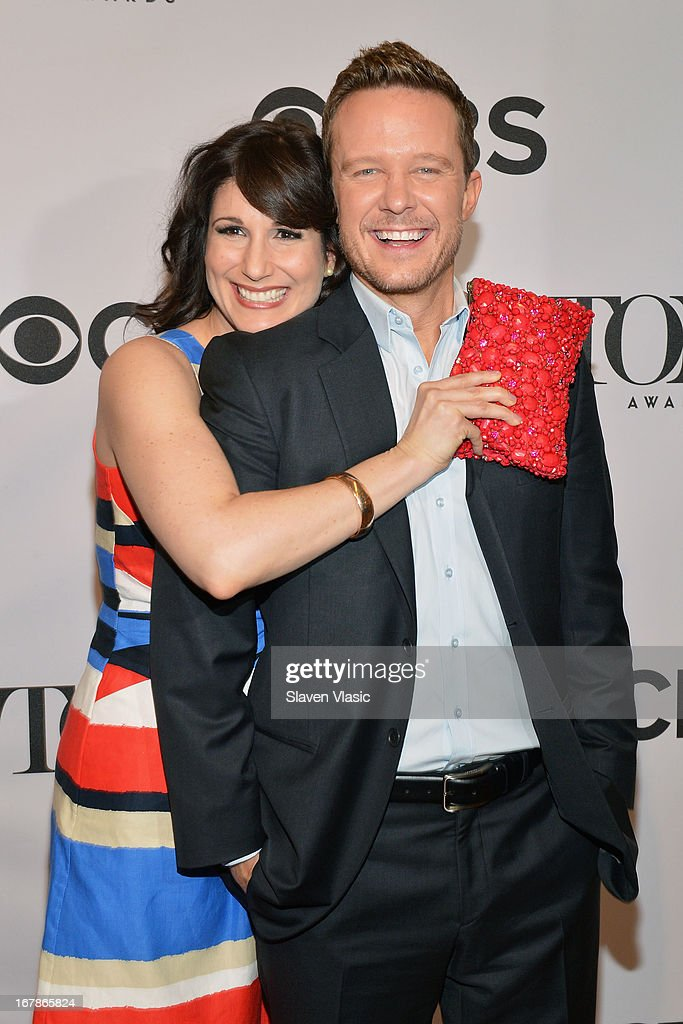 Stephanie J. Block and Will Chase attend 2013 Tony Awards: The Meet The Nominees Press Junket at the Millenium Hilton on May 1, 2013 in New York City.