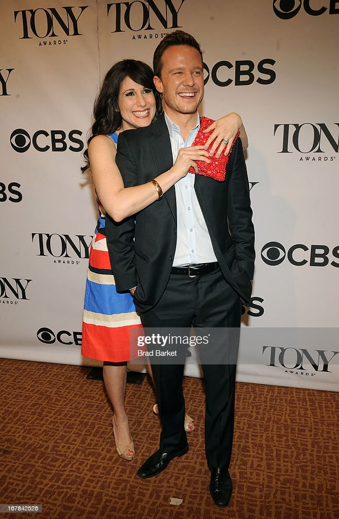 Stephanie J. Block and Will Chase of 'The Mystery of Edwin Drood' attend the 2013 Tony Awards Meet The Nominees Press Reception on May 1, 2013 in New York City.