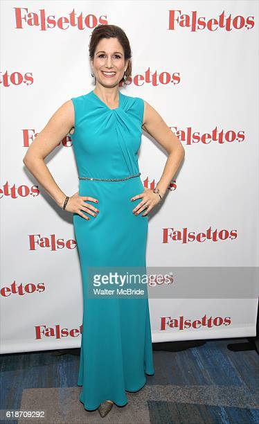Stephanie J Block attends the Opening Night After Party for 'Falsettos' at the New York Hilton Hotel on October 27 2016 in New York City