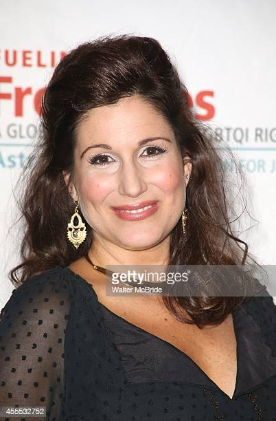 Stephanie J Block backstage at 'Uprising Of Love A Benefit Concert For Global Equality' at the Gershwin Theatre on September 15 2014 in New York City