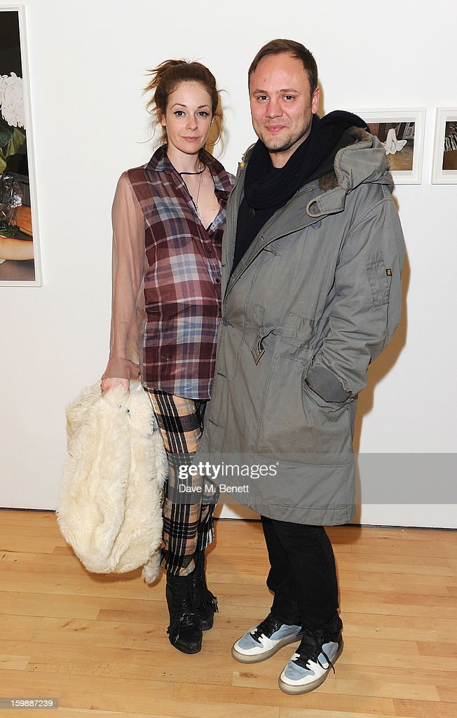 Stephanie LaCava and Nicholas Kirkwood attend the private view of Juergen Teller's 'Woo' at ICA on January 22, 2013 in London, England.