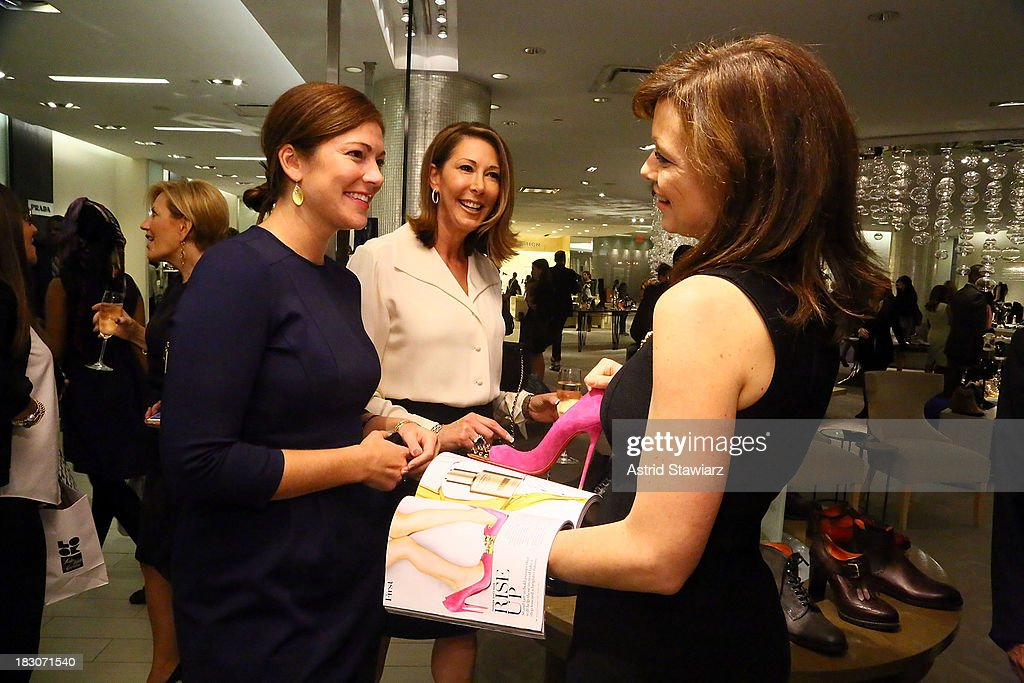 Stephanie Lieblich and Leslie Gallin attend Marie Claire's Shoes First Shopping Event At Saks Fifth Avenue on October 3, 2013 in New York City.