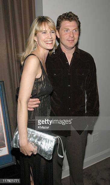 Stephanie March and Bobby Flay during 'New York Sports Night' at the Esquire Apartment at The Esquire Apartment in New York City New York United...