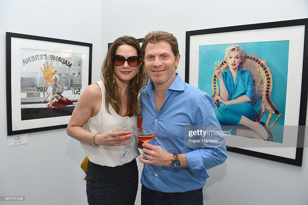 Stephanie March and celebrity chef Bobby Flay attend the Chopard and W Magazine 'Marilyn Forever' exhibition at Soho Beach House on December 6, 2012 during Art Basel Miami in Miami Beach, Florida.