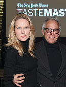 Stephanie March and chef Geoffrey Zakarian attend The New York Times TasteMasters presented by Park Hyatt on October 19 2015 in New York City