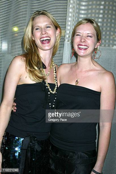 Stephanie March and her sister Charlotte March during Opening Party For Bobby Flay's New Restaurant Bar Americain at Bar Americain in New York City...